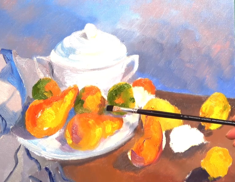 Cezanne Still Life painted on the Cezanne Art Class Live-stream